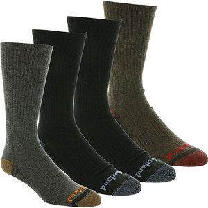 Timberland 4 Pack Outdoor Reinforced Crew Socks OS